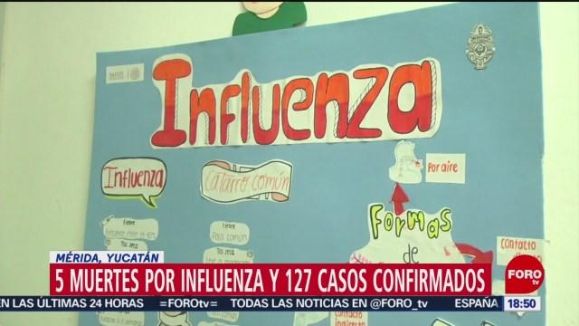 FOTO: yucatan registra 5 muertes por influenza, 14 de enero del 2020