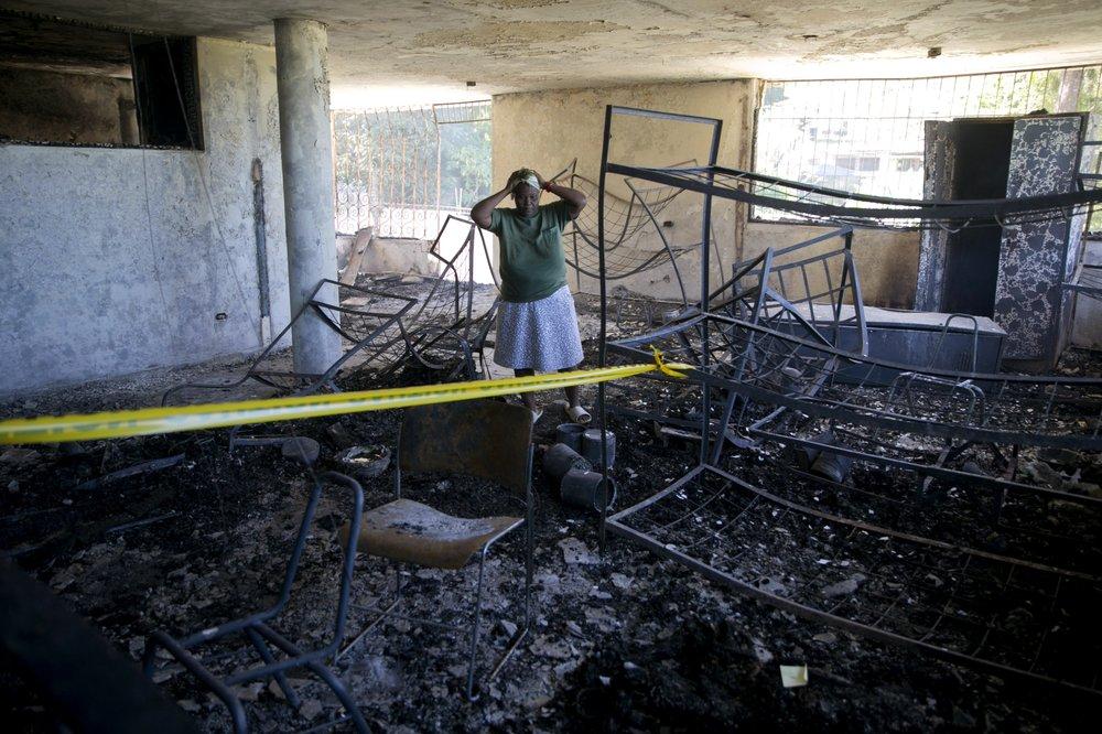 Foto: Mueren 15 niños haitianos tras incendio en orfanato, 14 de febrero de 2020, (AP)