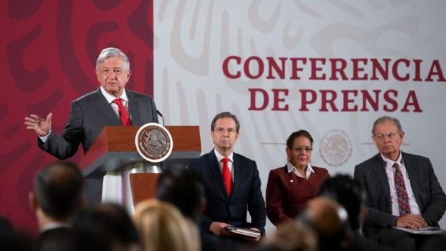 Foto: El presidente Andrés Manuel López Obrador en conferencia de prensa