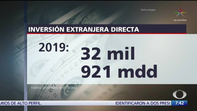 México recibió casi 33 mil mdd en Inversión Extranjera Directa en 2019