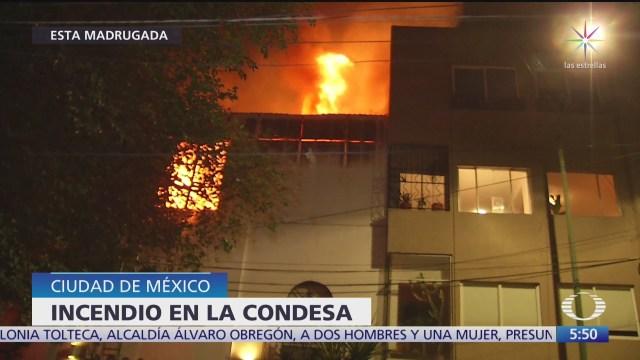 Controlan incendio en edificio de la Condesa, en CDMX