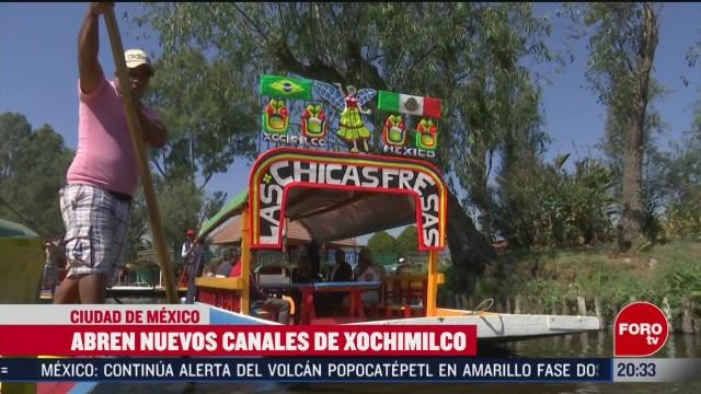 Foto: Trajineras Xochimilco Abren Nuevas Rutas 12 Febrero 2020
