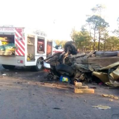 Accidente en carretera libre a Mazatlán, a la altura de Coyotes.