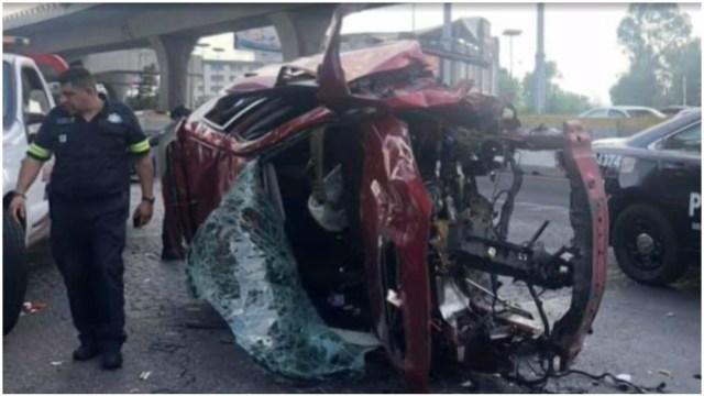 Foto: El conductor de un vehículo murió tras accidente en el segundo piso, 23 de febrero de 2020 (Foro TV)