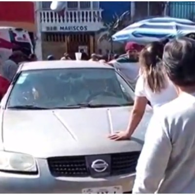 Foto: Un hombre con discapacidad atropelló a creyentes en Aguascalientes, 23 de febrero de 2020 (Foro TV)