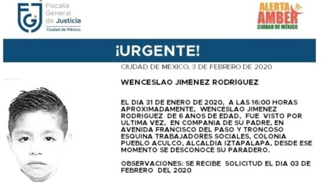 FOTO: Activan Alerta Amber para localizar a Wenceslao Jiménez Rodríguez, el 04 de febrero de 2020