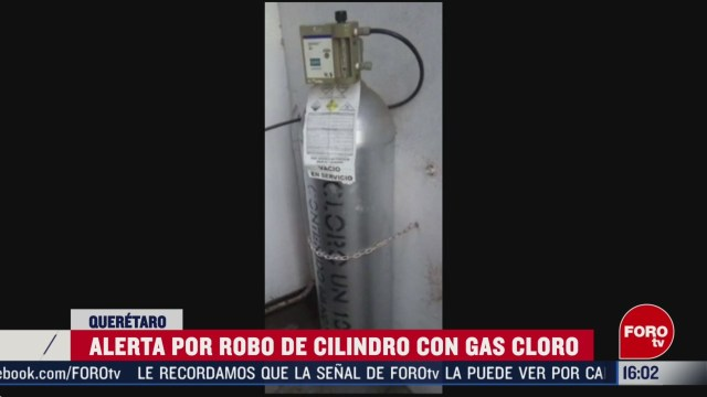FOTO: activan alerta por robo de cilindro de gas cloro
