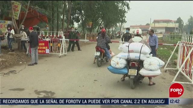 aldea de vietnam es puesta en cuarentena por coronavirus