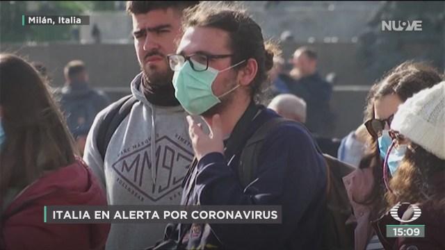 FOTO: alerta en italia por contagios de coronavirus