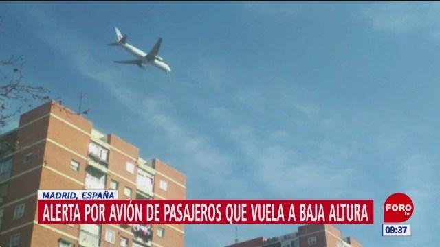 FOTO: 3 Febrero 2020, alerta por avion que vuela a baja altura en madrid
