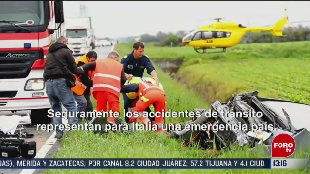 FOTO: alerta por muertes en accidentes vehiculares en la union europea