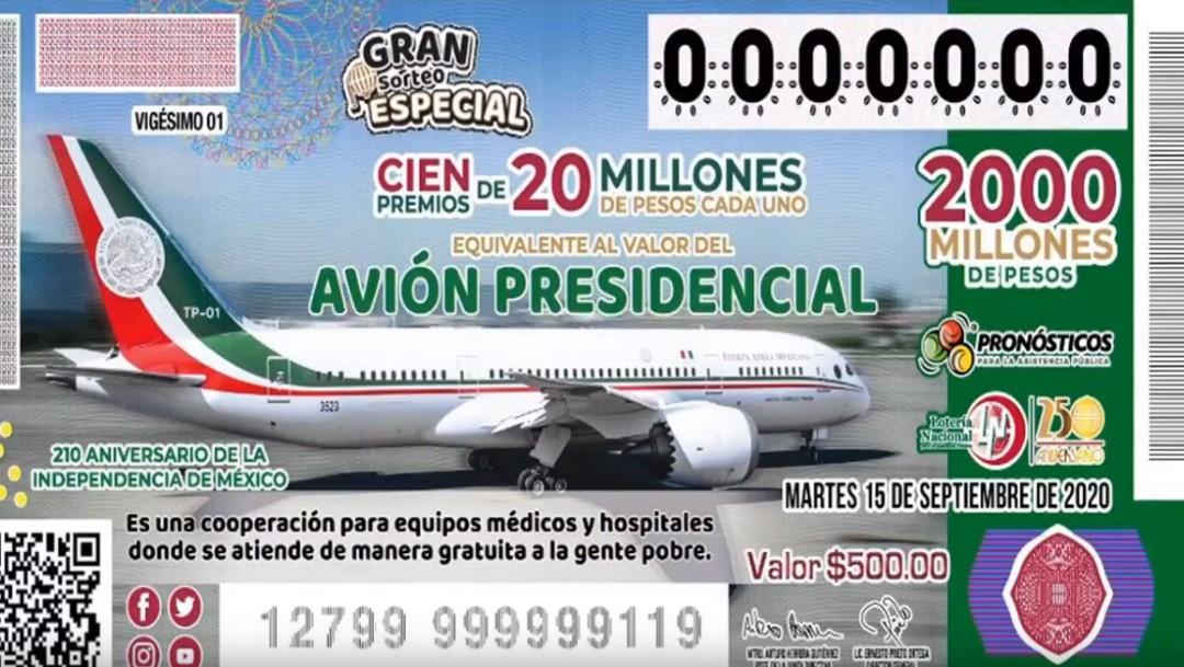 Foto: AMLO: El avión presidencial será rifado, pero el premio será en dinero