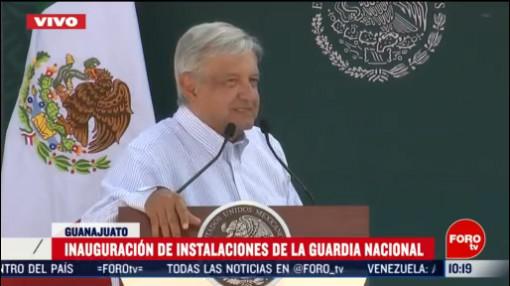 FOTO: 16 Febrero 2020, amlo inaugura instalaciones de la guardia nacional en penjamo guanajuato