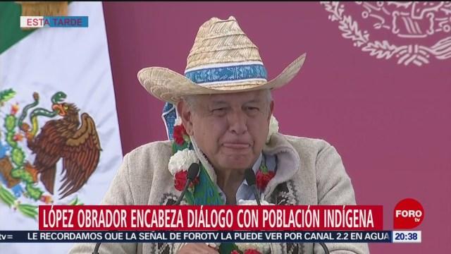 Foto: Amlo Tiene Diálogo Indígenas Atlacomulco 8 Febrero 2020