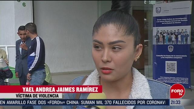 Foto: Andrea Joven Denunció Agresiones Pareja Acude Fiscalía Cdmx 13 Febrero 2020