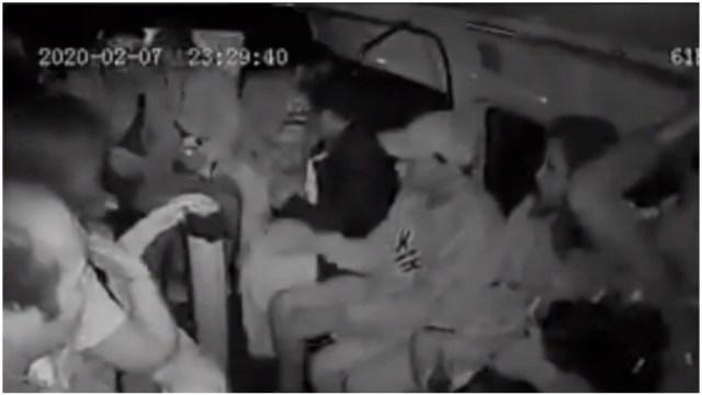 Foto: Captan asalto al transporte público en Iztapalapa, 8 de febrero de 2020 (Foro TV)