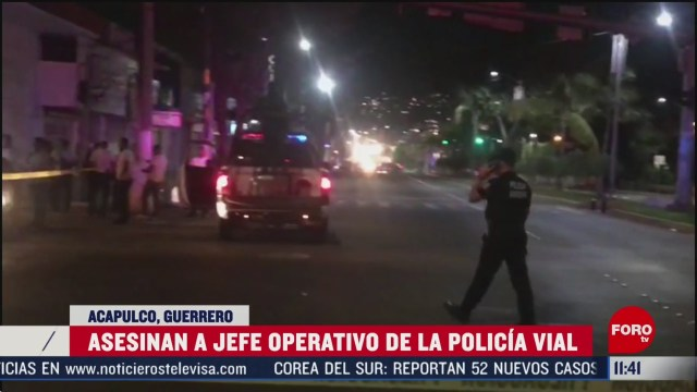 asesinan a jefe de la policia vial de acapulco guerrero