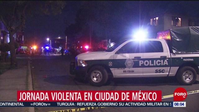 FOTO: asesinan a tres personas la madrugada del sabado en cdmx