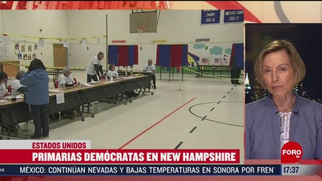 FOTO: asi van las primarias democratas en new hampshire