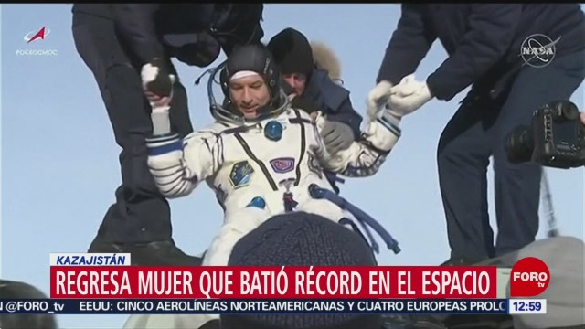 astronauta christina koch cumple mision record en eei y regresa a la tierra