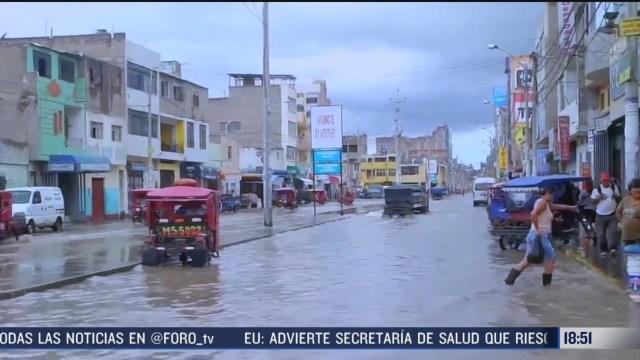 FOTO: autoridades alertan a mas de 3 millones de personas por fuertes lluvias en peru