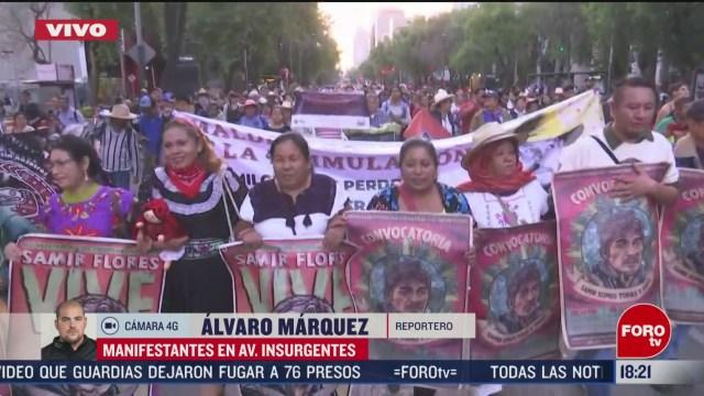 FOTO: avanza marcha sobre paseo de la reforma exigen justicia por homicidio de samir flores