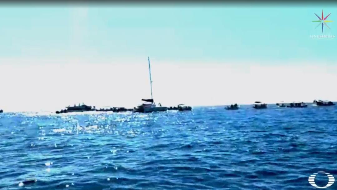 FOTO Avistamiento de ballenas es caos en Los Cabos, afecta a cetáceos (Noticieros Televisa)