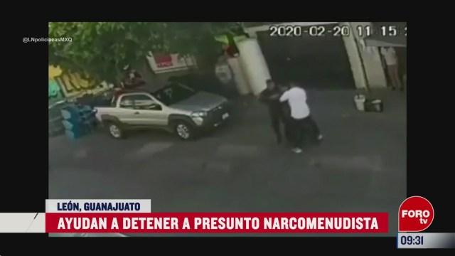 ayudan a detener a presunto narcomenudista en guanajuato