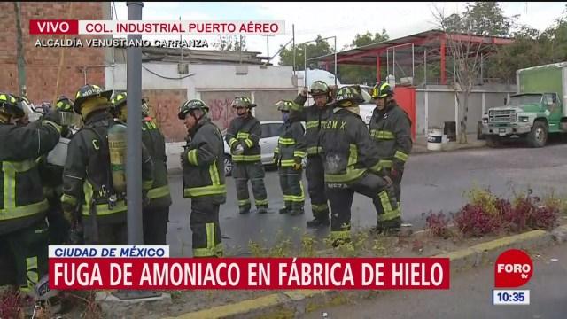 bomberos controlan fuga de amoniaco en la venustiano carranza