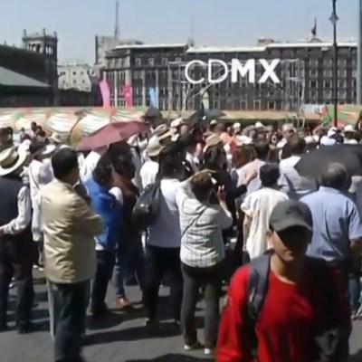 foto: Realizan cadena humana frente a Palacio Nacional, el 23 de febrero de 2020
