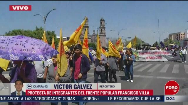 FOTO: campesinos marchan sobre paseo de la reforma cdmx