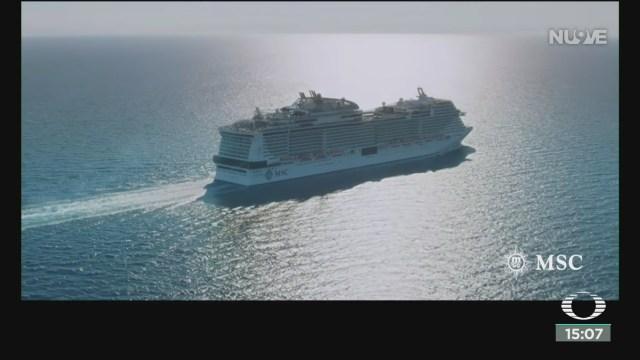 FOTO: cancelan arribo de crucero a cozumel