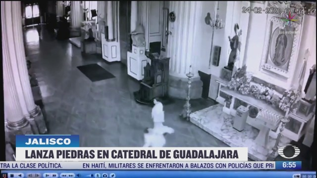 captan video de hombre que lanza piedras a imagen de la virgen de guadalupe
