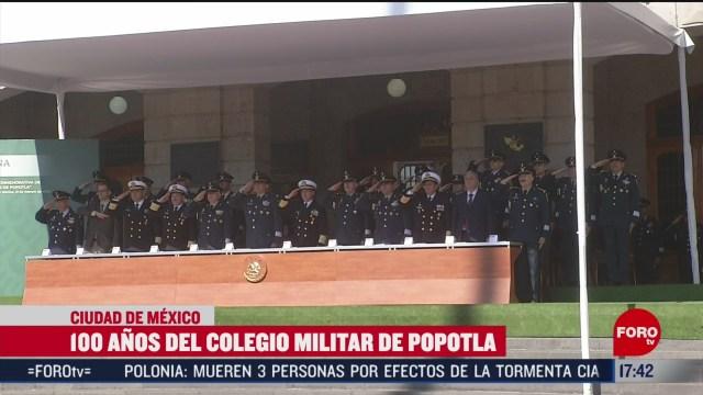 FOTO: celebran 100 anos del colegio militar de popotla