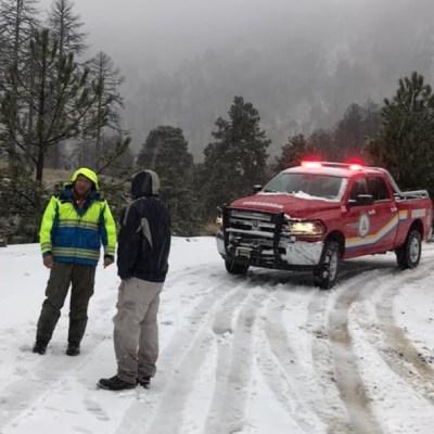 Cierran acceso a Nevado de Colima por caída de nieve y viento