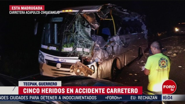 FOTO: 16 Febrero 2020, cinco heridos tras accidente carretero en tecpan