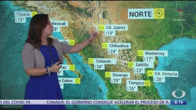 clima al aire ambiente caluroso en gran parte de mexico