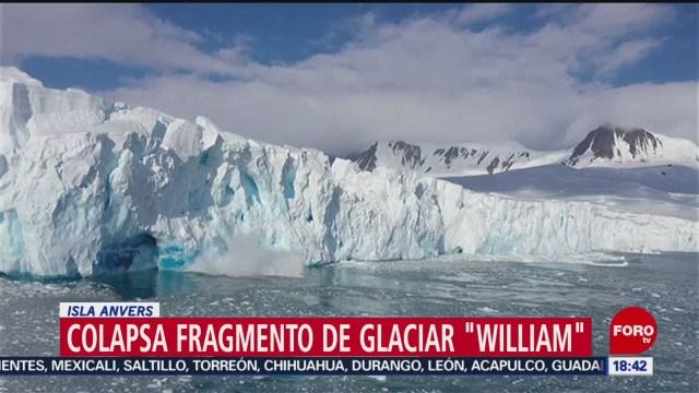 FOTO: colapsa fragmento de glaciar en isla anvers