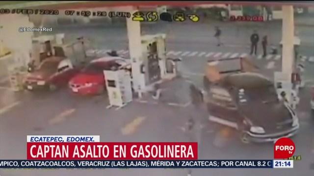 Foto: Video Asalto Gasolinera Ecatepec Hoy 4 Febrero 2020