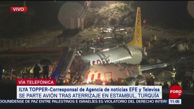 confirman personas lesionadas por avion que se partio en turquia