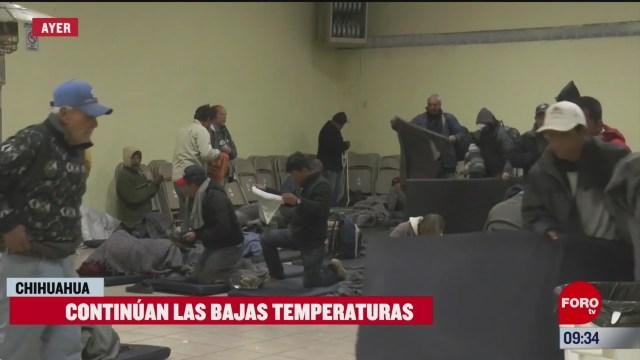 continuan las bajas temperaturas en chihuahua