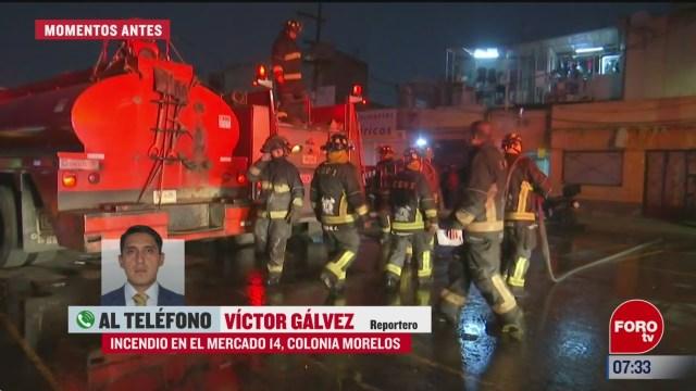 controlan incendio en mercado 14 de tepito no hay lesionados