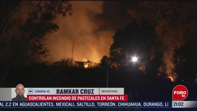 FOTO: 23 Febrero 2020, controlan incendio en santa fe