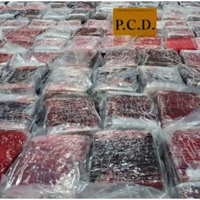 Foto: Costa Rica realiza decomiso histórico de droga, 16 de febrero de 2020 (Policía de Costa Rica)