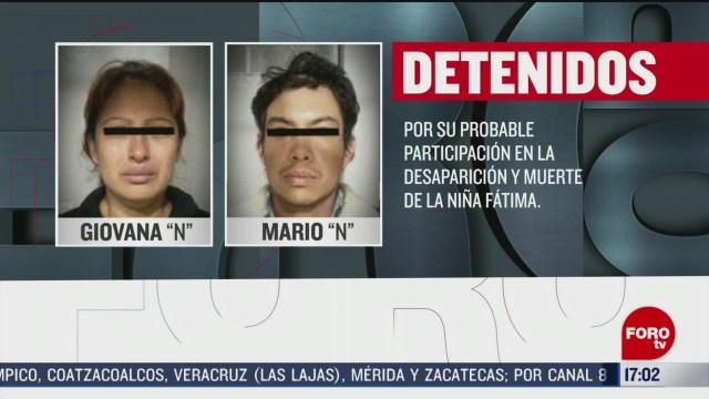FOTO: denuncia anonima alerto a las autoridades sobre presuntos asesinos de fatima