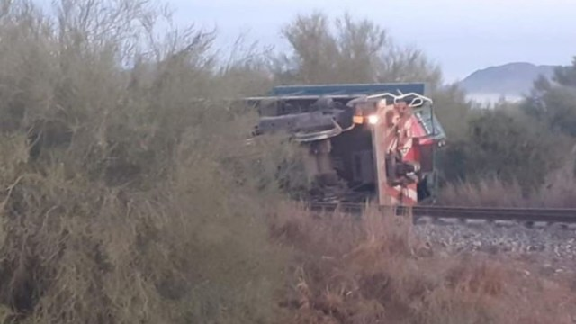 Descarrila tren en Sonora y deja un muerto y 2 heridos