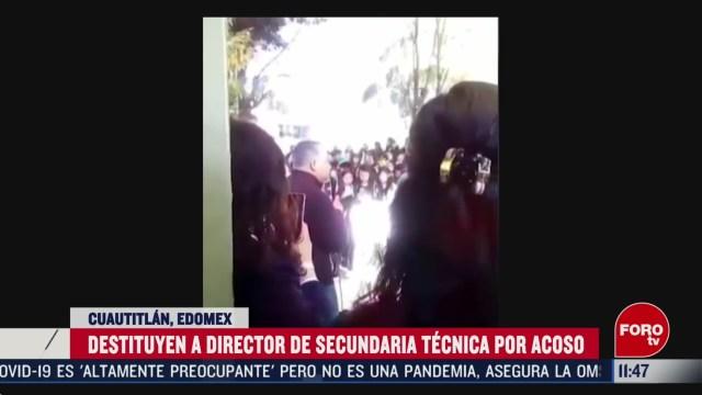 destituyen a director de secundaria tecnica por acoso en cuautitlan