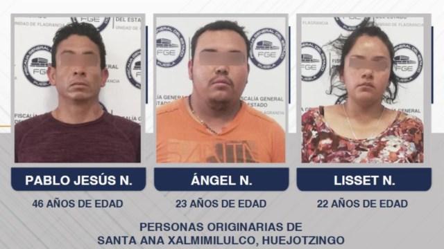 FOTO Detenidos por homicidio de estudiantes de medicina en Puebla tendrían antecedentes criminales (Fiscalía de Puebla)