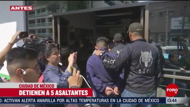 FOTO: detienen a cinco delincuentes que operaban en el aicm