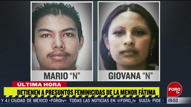 Foto: Detienen Feminicidas Fátima Claudia Sheinbaum Hoy Asesinos 19 Febrero 2020